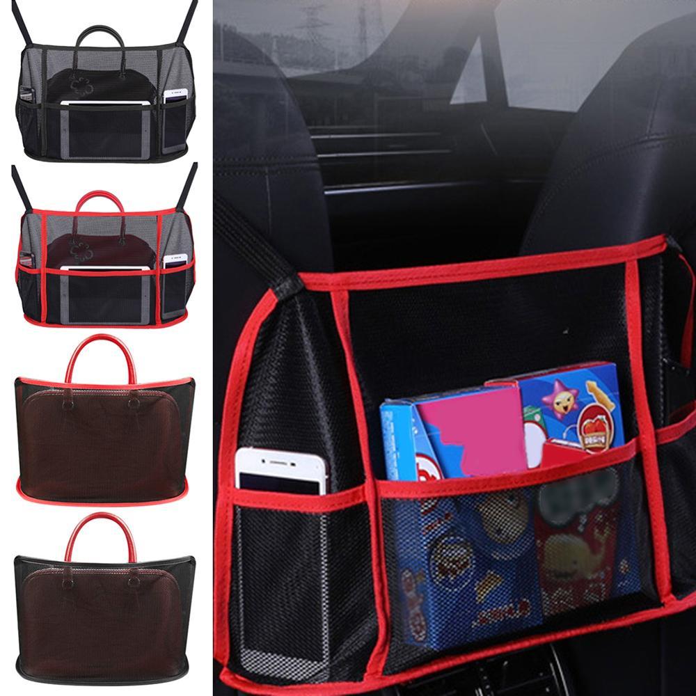 Автомобильный сетчатый Карманный держатель для сумочки, органайзер для бокового сиденья, Сетчатая Сумка для упаковки, автомобильный орган...
