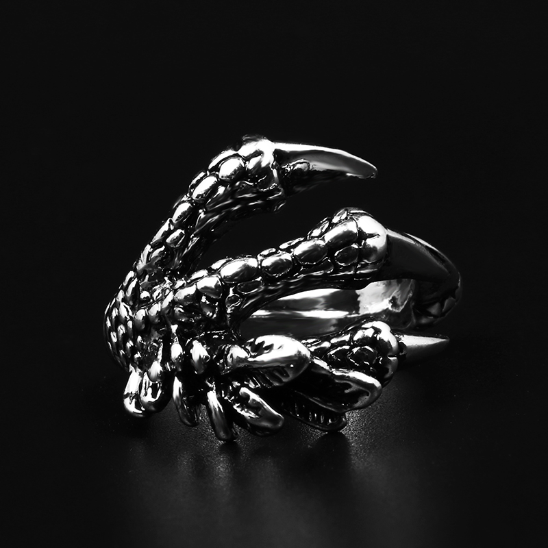 Men's Ring Alloy Index Finger Anti-body Concealed Weapons To The Eagle Dragon Claw Opening To Adjust The Over-air Ring