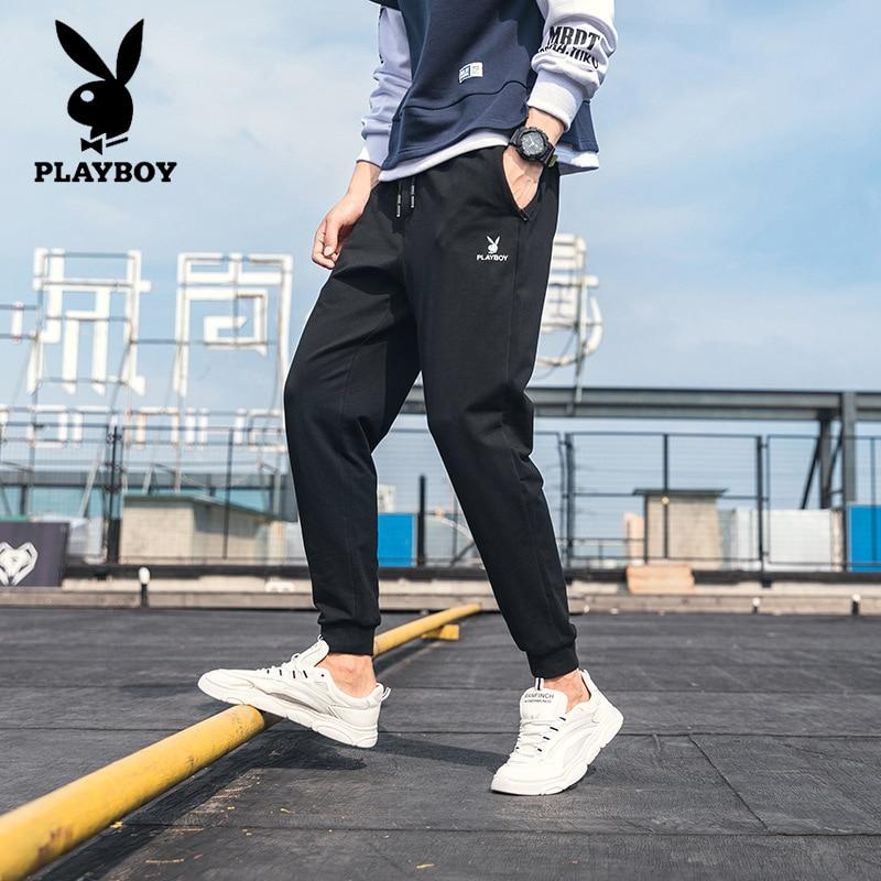 Brand Playboy New Fashion Men's Slim Feet Casual Pants Stretch Breathable Harem High Quality Pants