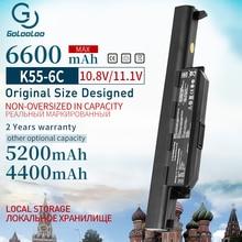 Батарея A33-K55 для ASUS A32-K55 R700D R700DE U57A U57V X75A K45VM K75DE A55N A55V X45VD A55VS A75 A75A A75D A75VD X55VD U57VM