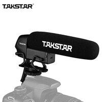 TAKSTAR SGC-600 en cámara condensador entrevista Mic micrófono Super-cardioide 3-nivel de Control de ganancia de corte bajo interruptor enchufe de 3,5mm
