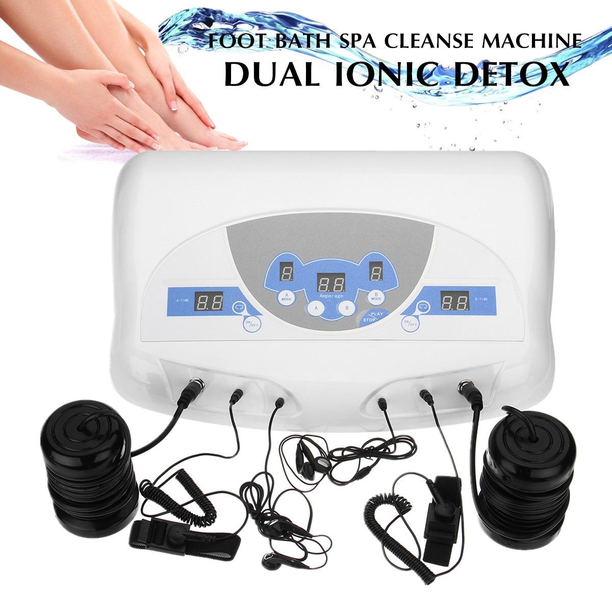 Neue Durchblutung Dual Detox Spa/Ion Fuß Detox Spa Bad/Ionischen Reinigen Detox Fußbad Massage maschine Entspannung