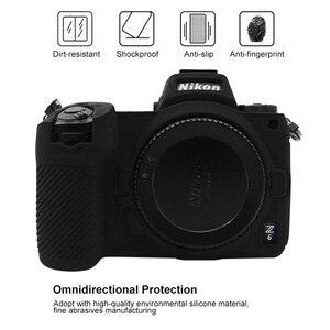 PULUZ чехол для Nikon Z6/Z7 мягкий силиконовый резиновый защитный корпус для камеры чехол камуфляжная желтая сумка для камеры