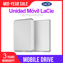 "LaCie Mobile Drive 1TB 2TB 4TB 5TB External Hard Drive 2.5"" USB C( USB 3.1 Gen2) 6Gb/s for PC MAC"