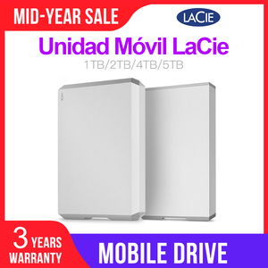 """Image 1 - LaCie Mobile Drive 1TB 2TB 4TB 5TB Hard Drive Esterno da 2.5 """"USB C( USB 3.1 gen2) 6 Gb/s per PC MAC"""