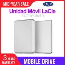 """LaCie disco duro externo para PC y MAC, Unidad Móvil de 1TB, 2TB, 4TB, 5TB, USB C de 2,5 """"(USB 3,1 Gen2) 6 Gb/s"""