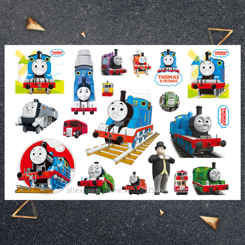 Hasbro Little Train Child Sticker Children Cartoon Temporary Tattoo Sticker For Boys Cartoon Toys Waterproof Party Kids Gift