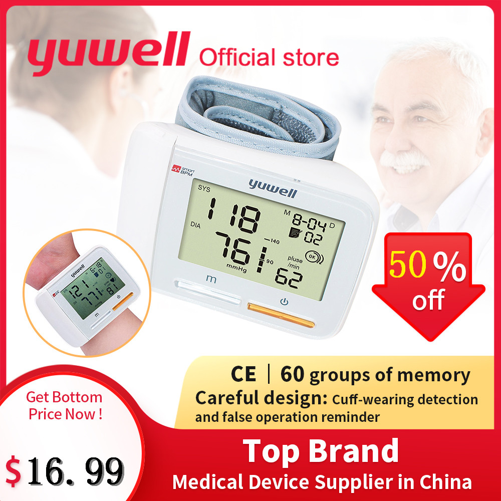 Yuwell 8900A Grande LCD Digital de Pulso Monitor de Pressão Arterial Portátil de Medição de Equipamentos Médicos CE Household Ferramenta de Cuidados de Saúde