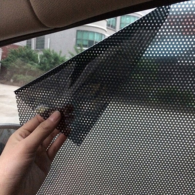 Сетчатая пленка для боковых окон автомобиля, 2 шт., сетка для ветрового стекла, Солнцезащитная наклейка, защита от УФ лучей, статический солнцезащитный козырек для автомобиля|Занавески для боковых окон| | АлиЭкспресс