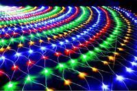 LED Net Mesh String Light 1.5x1.5M 3x2M 6x4M TV Background Decorate Garden Fairy Light Christmas Wedding Holiday Garland Light