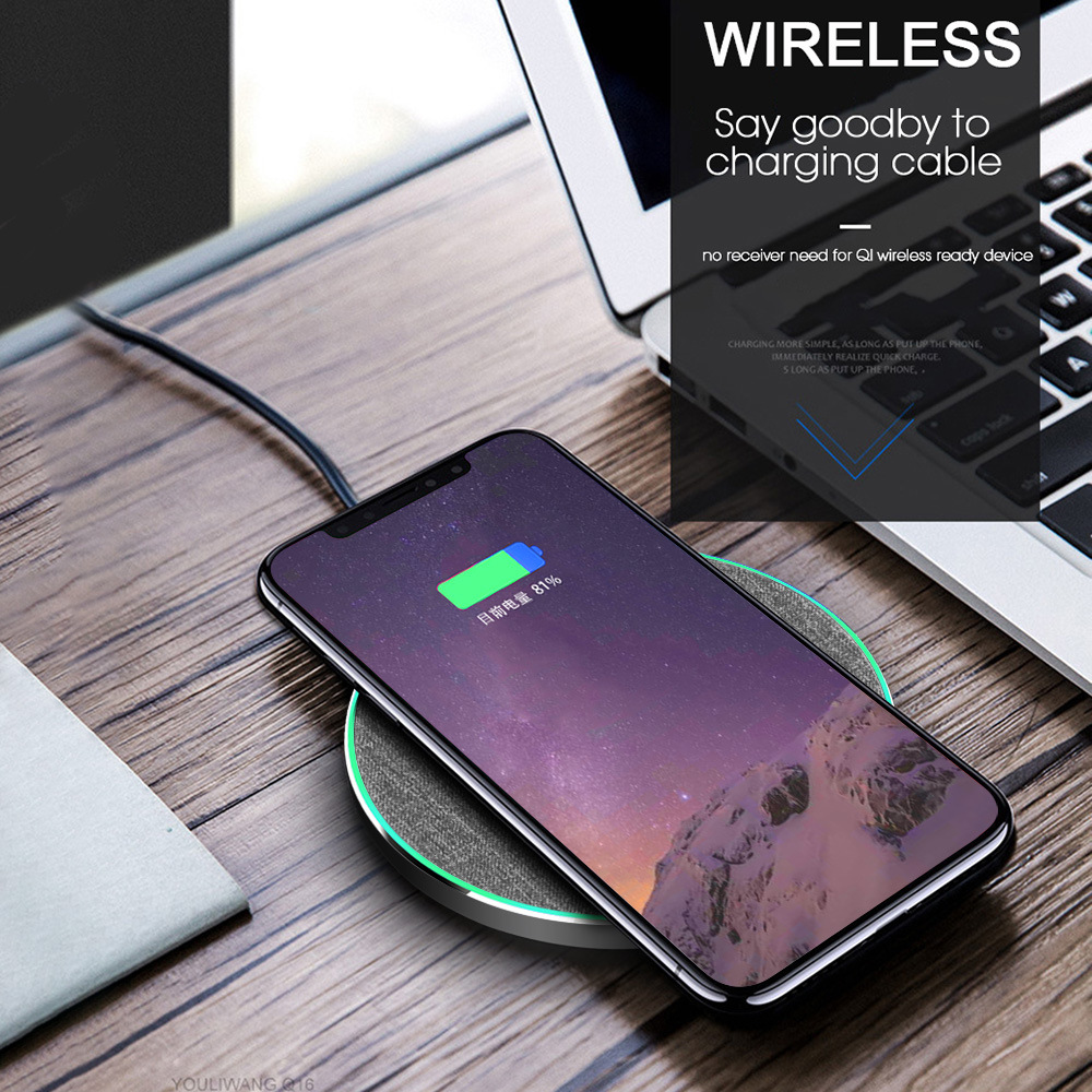 B270 Qi fast wireless charger charging pad 7.5W/10W /15W wireless charger with light For for iPhone XS Max X 8 For Huawei P30 2