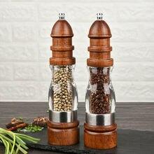 Mill-Set Grinders Salt Pepper Spices Wood Manual And Rotor for Adjustable