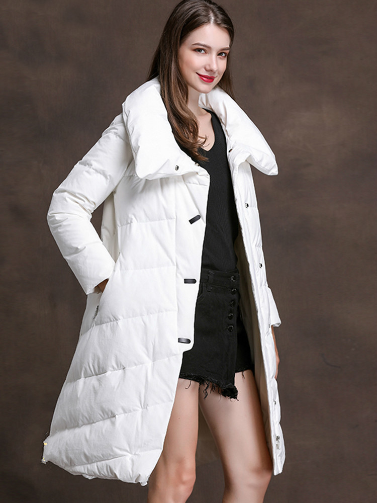 Down Duck White Jacket Women Winter Coat Long Korean Women Down Coats Jackets Warm Woman Down Parka XMXD8383 KJ2937 S S