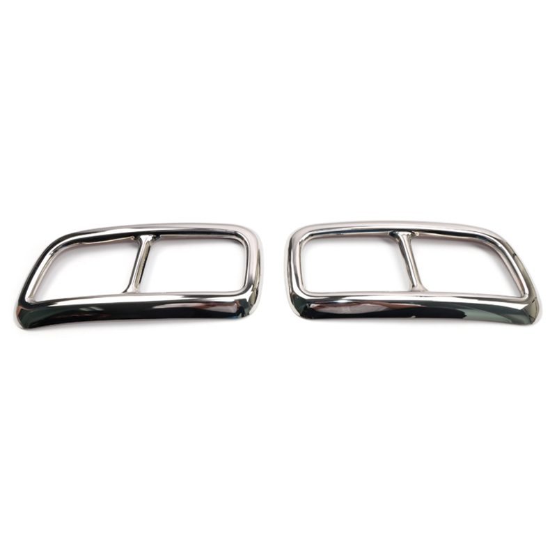 For Volvo Xc90 2016 2017 2018 Car Tail End Pipe Exhaust Muffler Tip Cover Trim 2Pcs Car Styling Decoration Trim Stainless Steel|Sound & Heat Insulation Cotton| |  - title=