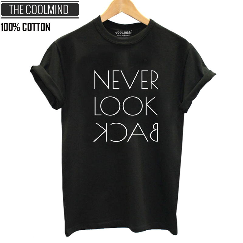 COOLMIND QI0129B 100% Cotton Summer Loose T Shirt Women Casual Funny Black Tshirt Women Cool O-neck T-shirt Female Tee Shirts