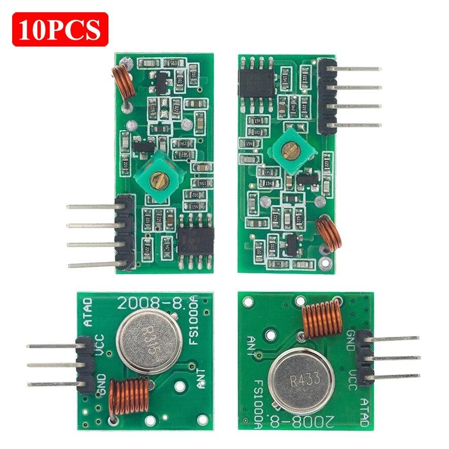 10 шт., модуль 433 МГц для ARM/MCU WL 315 МГц/433 МГц, беспроводной пульт дистанционного управления для arduino Diy
