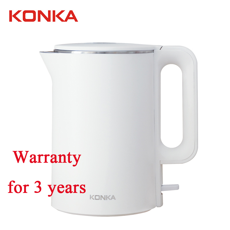 Kitchen Electric Kettle KONKA White Kettle With Base Giratoria Life Element Hervidor De Agua 1.7L 1500W