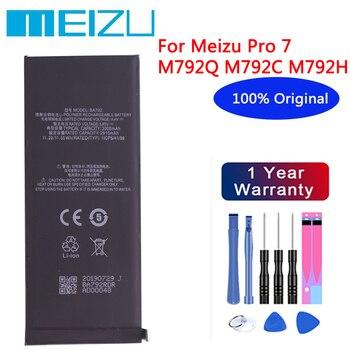 Meizu High Quality 100% Original Battery 3000mAh BA792 For Meizu Pro 7 M792Q M792C M792H Smartphone Batteries+Free tools meizu high quality battery 100