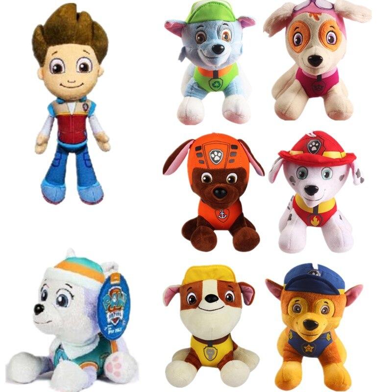 20-30cm Paw Patrol juguetes de peluche de dibujos animados muñeca de peluche perro de juguete para niños cachorro perro patrulla figura Anime juguetes patrulla canina