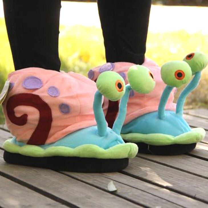 SUNNY EVEREST 19cm niño 34-44 zapatos de mujer invierno cálido Caracol zapatilla encantadores zapatos familiares piso casa zapatillas lindo peluche Zapatillas de piel