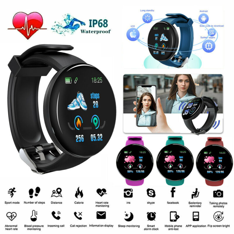 Men Women Waterproof Sports Smart Watch Supporting Heart Rate Blood Pressure Monitor For IOS Android Digital Smart Band Hot