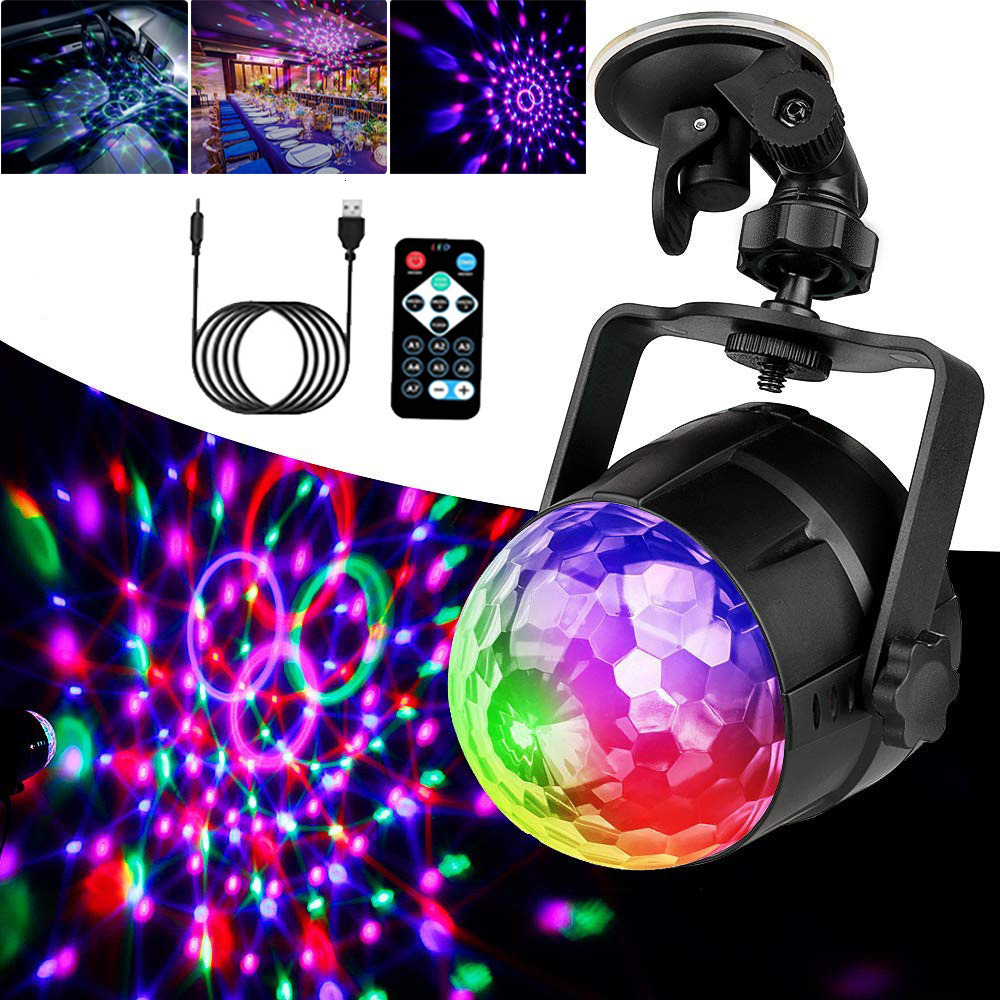 Disco Ball Party Light Sound Activated Rotating Strobe Light 3W RGB LED Stage Lights For Christmas Home KTV Xmas Wedding Show