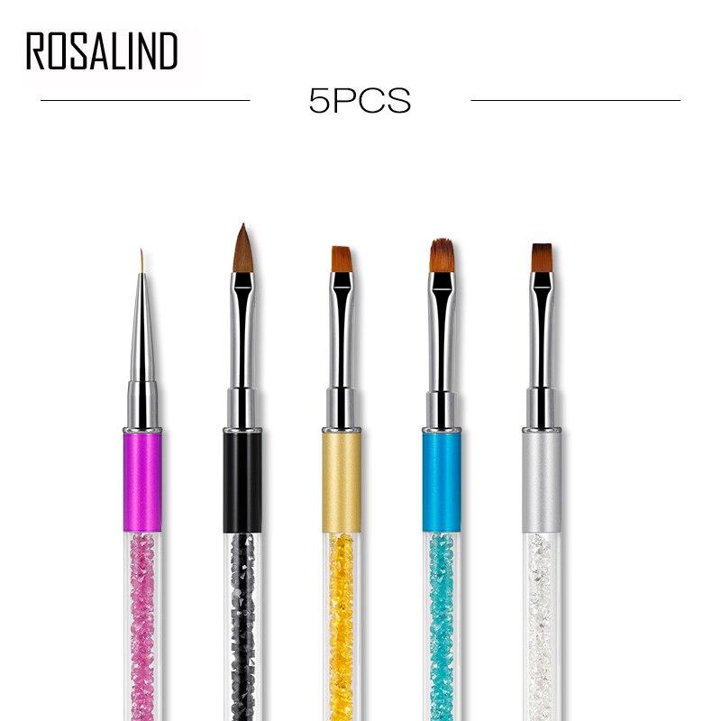 ROSALIND Nail Art Design Acrylic Handle Brush Art Pen UV Nail Gel Brush Painting Drawing Lines Pen Tips Tools Gel Brush