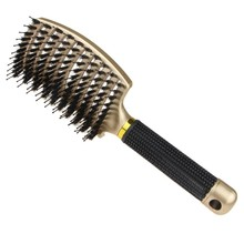Boar Bristle Hair Brush-Curved And Vented Detangling Hair Brush For Women Long,Thick,Thin Curly Hair Vent Brush Gift Kit,1 pcs(China)
