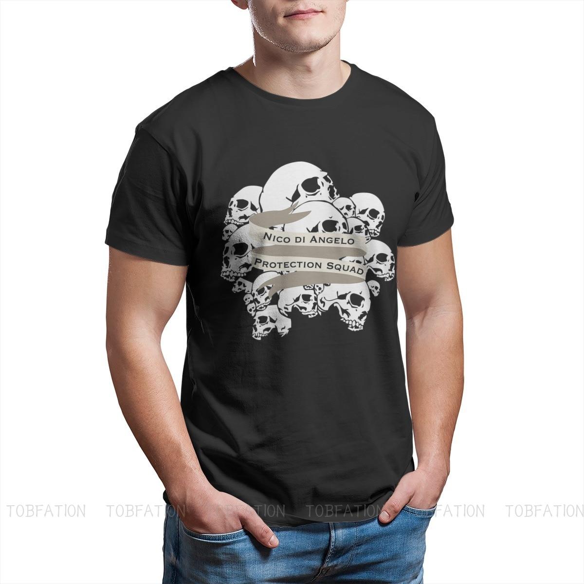 T-shirt in cotone con stampa Nico di Angelo ofertilizzanti mitologia romana Janus Vesta Archaic Triad saturno uomo Graphic Streetwear