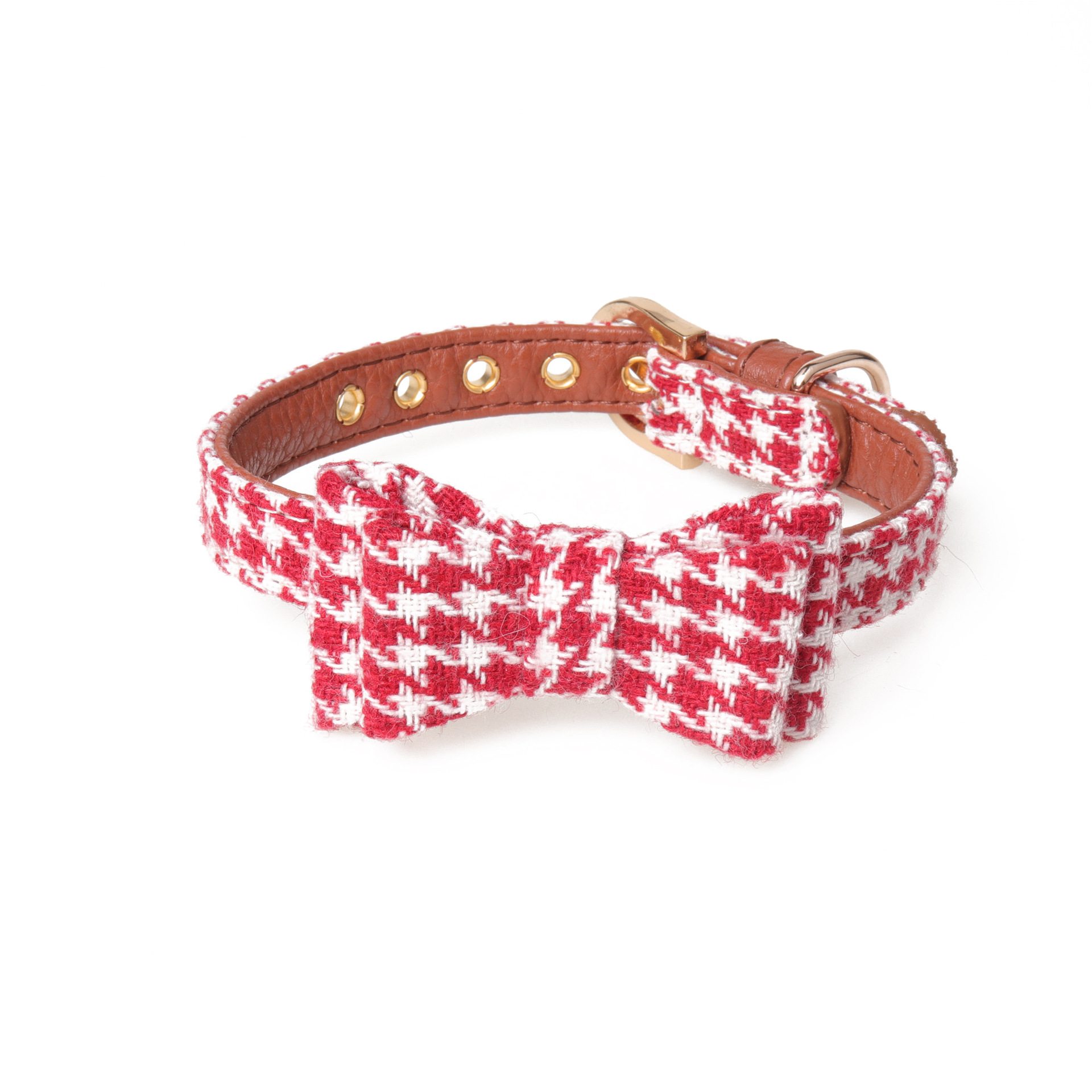 Amin Lattice New Style Plaid Bow Neck Ring Pet Collar Dogs And Cats Triangular Binder British Style Manufacturers Direct Selling
