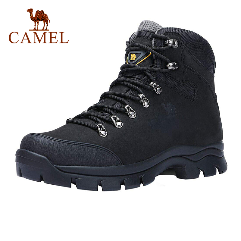 CAMEL Men High Top Hiking Shoes Durable Waterproof Anti-Slip Outdoor Climbing Trekking Shoes Male Military Tactical Boots 41-45