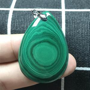 Image 5 - 100% טבעי ירוק מלכיט תליון לנשים ליידי קריסטל 41x29x6mm אבן ריפוי Chrysocolla רייקי שרשרת תליון AAAAA