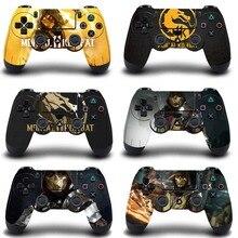 Mortal Kombat funda protectora para mando de PS4, pegatina delgada para Playstation 4 Pro, accesorios para PS4