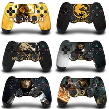 Mortal Kombat ochronna naklejka na pokrywę na PS4 skórka na kontroler na Playstation 4 Pro Slim naklejka PS4 skórka naklejka akcesoria