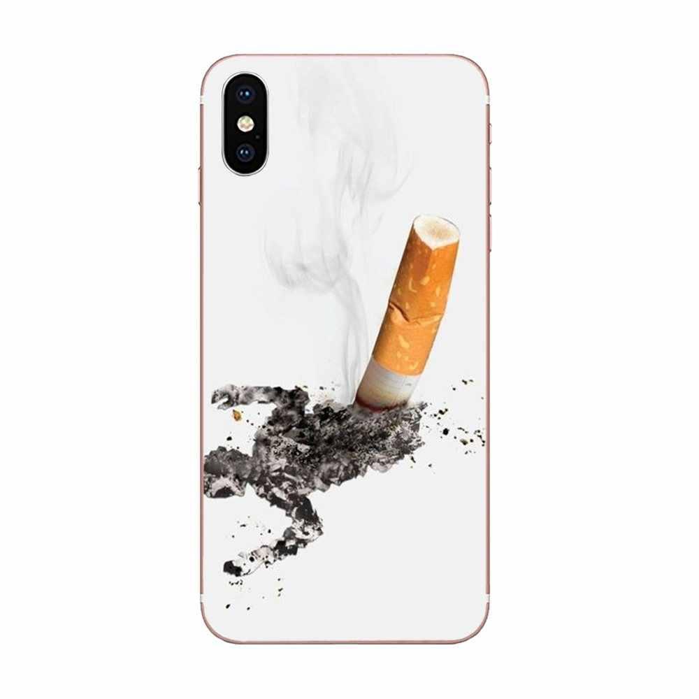 Populaire Case Custom Cool Cigaret Roken Doodt Voor Huawei Honor Mate 7 7A 8 9 10 20 V8 V9 V10 G Lite Play Mini Pro P Smart