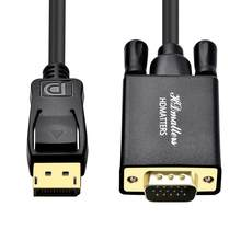 Displayport to VGA HDMI cable 1M DP to HDMI 4K VGA DVI cable for HP Dell Asus Lenovo PC laptop(China)