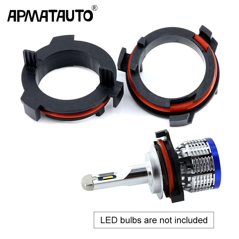 2pcs Car Model LED Headlight Bulbs Holder Adapter Lamp Base Led Front Headlight Kit H7 Adapter For OPEL Astra G Honda CR-V Mazda