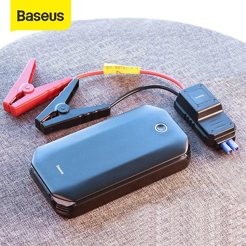 Baseus, arrancador de batería de coche, dispositivo de arranque Banco de energía de batería 800A, arrancador automático de coche, elevador de emergencia, cargador de coche, arranque de arranque