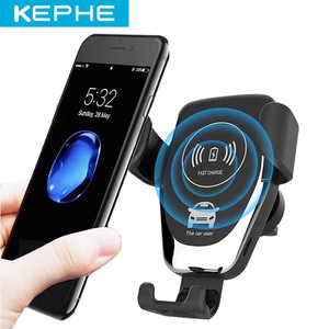 KEPHE 10W Car Fast Wireless Charger For iPhone 8 Plus XR XS Max X Qi Fast Wireless Car Charger For Samsung Galaxy S10 Plus S10|Car Chargers| |  -
