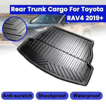 For Toyota RAV4 2019+ Car Rear Trunk Boot Liner Cargo Mat Luggage Tray Floor Carpet Mud Protector Replacement Car Accessories image