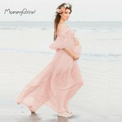 Maternity Dresses For Photo Shoot Chiffon Pregnancy Dress Photography Props Maxi Gown Dresses For Pregnant Women Clothes 2020
