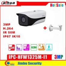 Сетевой видеорегистратор Dahua 3MP IP Камера IPC HFW1325M I1 с кронштейном H.264 IP67 ONVIF ИК 50 м видеонаблюдения Сетевая купольная Камера 3DNR мужские солнцезащитные очки день/ночь