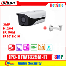 Dahua 3MP Ip Camera IPC HFW1325M I1 Met Beugel H.264 IP67 Onvif Ir 50M Surveillance Netwerk Dome Camera 3DNR Dag/night