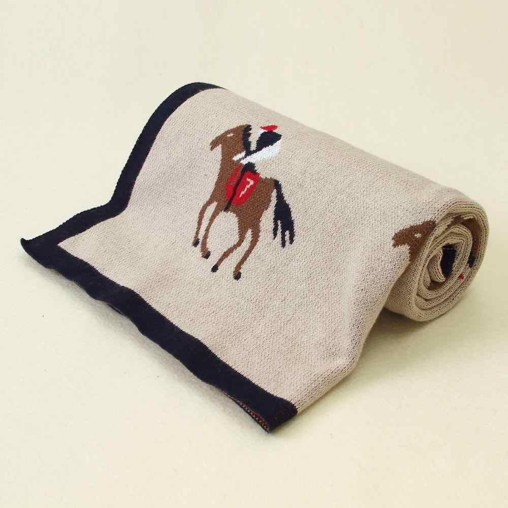 Koce dla dzieci dzianiny noworodka Cute Cartoon miękkie ciepłe Swaddle dzieci ręczniki kąpielowe 100*80cm maluch Infantil wózek koc pościelowy
