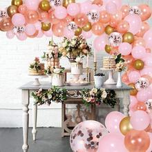130Pcs Rose Gold DIY Garland Kit & Balloon Arch Party Supplies Decorations for Bridal & Baby Shower Birthday Wedding Party