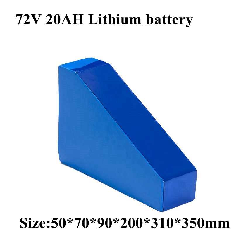 Triangle 72V 20AH with Bag Li-ion Batter Ebike Battery 72V 2000W 3000W Electric Bicycle Battery with 50A BMS 5A Charger