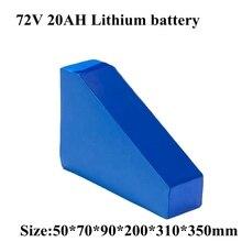 Треугольный Аккумулятор для электровелосипеда 72 в 20 ач с сумкой, литий ионный аккумулятор для электровелосипеда 72 в 2000 Вт 3000 Вт, аккумулятор для электровелосипеда с зарядным устройством 50A BMS 5A