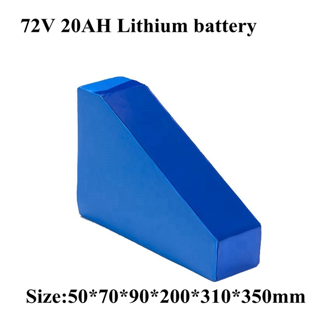 Triangle 72V 20AH with Bag Li ion Batter Ebike Battery 72V 2000W 3000W Electric Bicycle Battery with 50A BMS 5A Charger