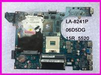 06D5DG QCL00 15R LA 8241P apto para dell 5520 7520 laptop motherboard HD7670M DDR3 testado|Placas-mães|   -