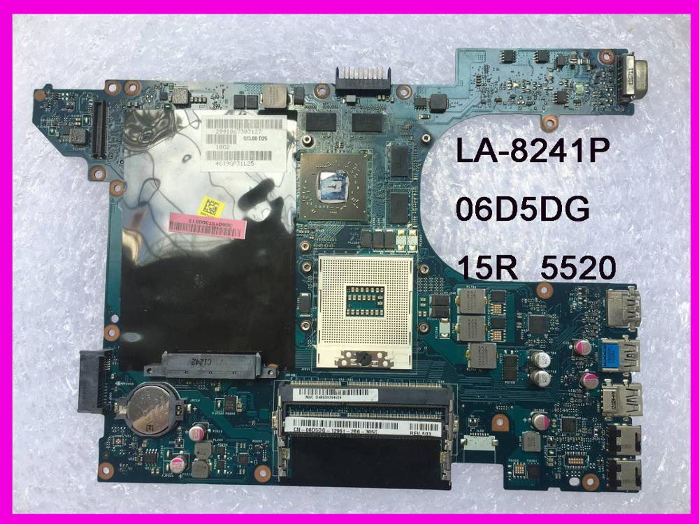 06D5DG QCL00 LA-8241P Fit For Dell 15R 5520 7520 Laptop Motherboard HD7670M DDR3 Tested